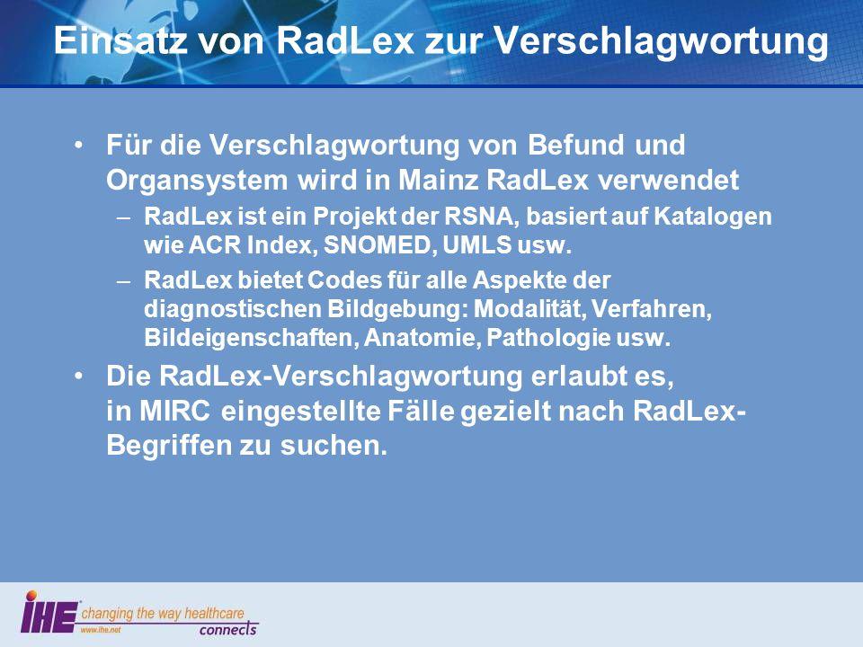 Einsatz von RadLex zur Verschlagwortung