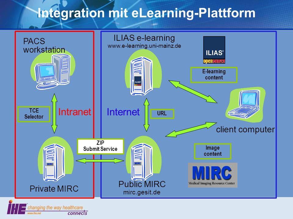 Integration mit eLearning-Plattform