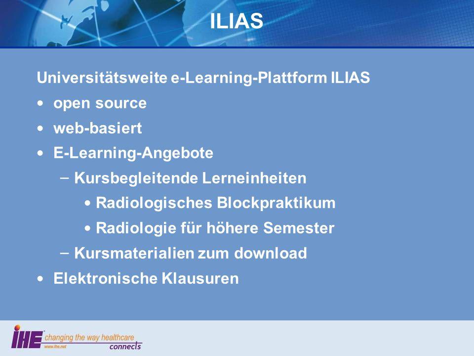 ILIAS Universitätsweite e-Learning-Plattform ILIAS open source