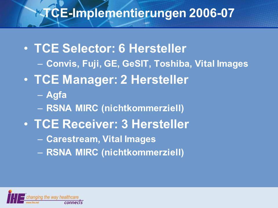 TCE-Implementierungen 2006-07
