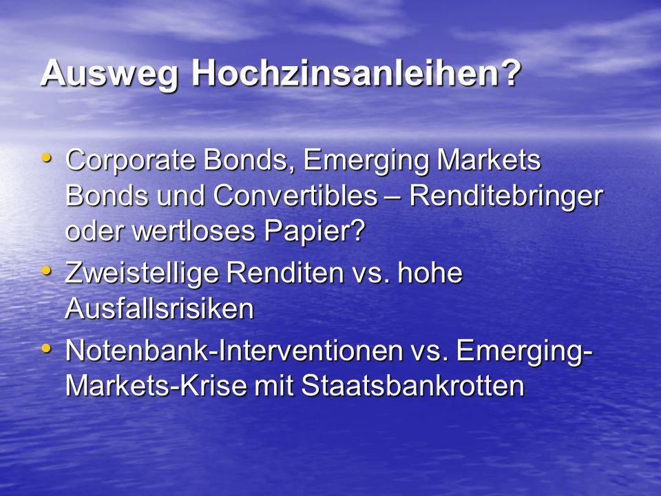 Ausweg Hochzinsanleihen