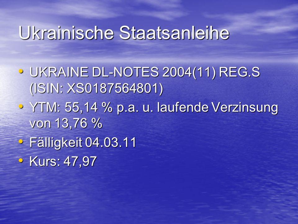 Ukrainische Staatsanleihe