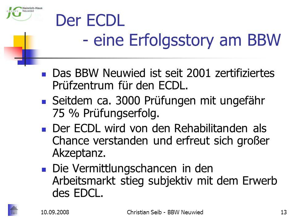 Der ECDL - eine Erfolgsstory am BBW