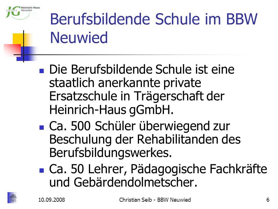 Berufsbildende Schule im BBW Neuwied