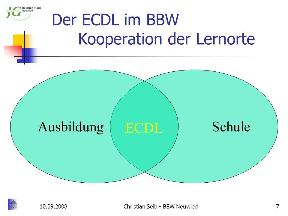 Der ECDL im BBW Kooperation der Lernorte
