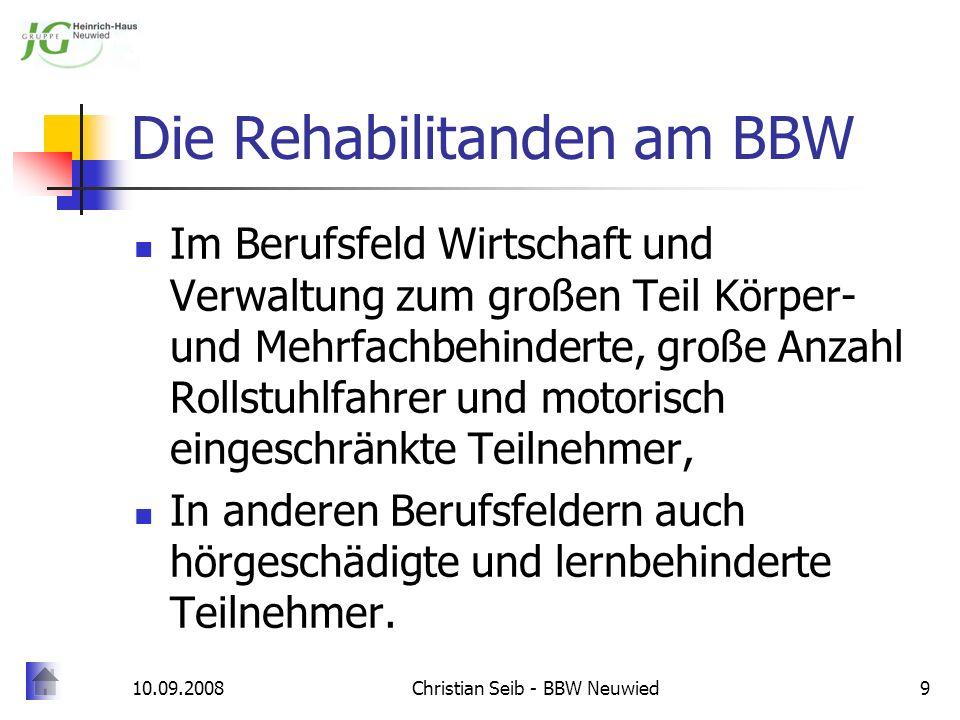 Die Rehabilitanden am BBW