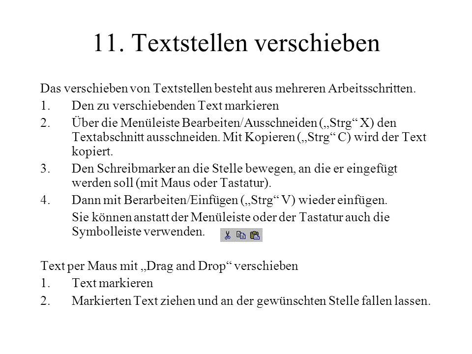11. Textstellen verschieben