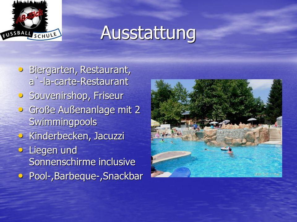 Ausstattung Biergarten, Restaurant, a`-la-carte-Restaurant