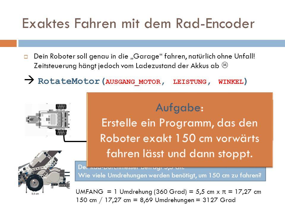 Exaktes Fahren mit dem Rad-Encoder
