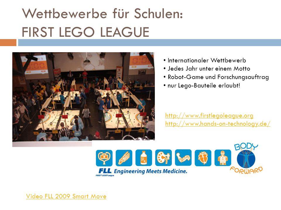 Wettbewerbe für Schulen: FIRST LEGO LEAGUE