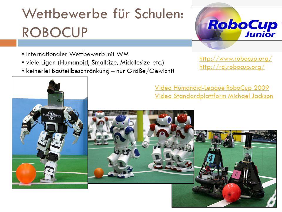 Wettbewerbe für Schulen: ROBOCUP