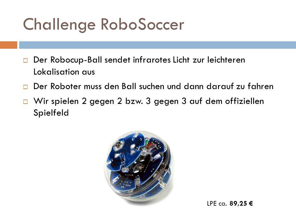 Challenge RoboSoccer Der Robocup-Ball sendet infrarotes Licht zur leichteren Lokalisation aus.