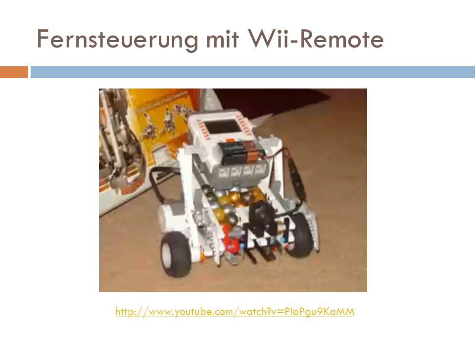 Fernsteuerung mit Wii-Remote