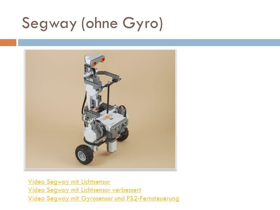 Segway (ohne Gyro) Video Segway mit Lichtsensor