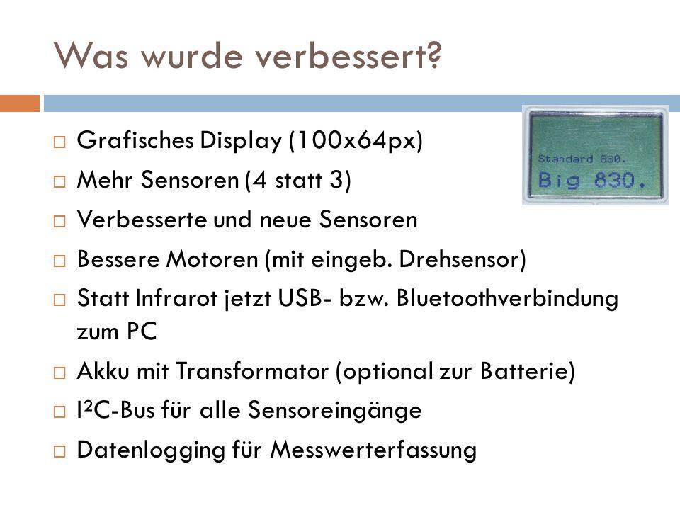 Was wurde verbessert Grafisches Display (100x64px)