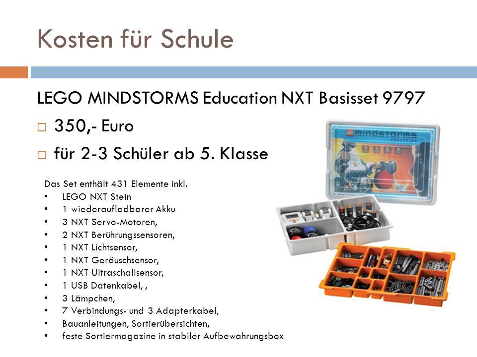 Kosten für Schule LEGO MINDSTORMS Education NXT Basisset 9797