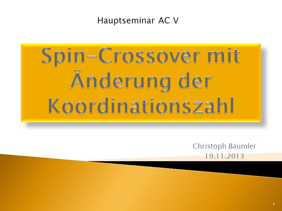 Spin-Crossover mit Änderung der Koordinationszahl