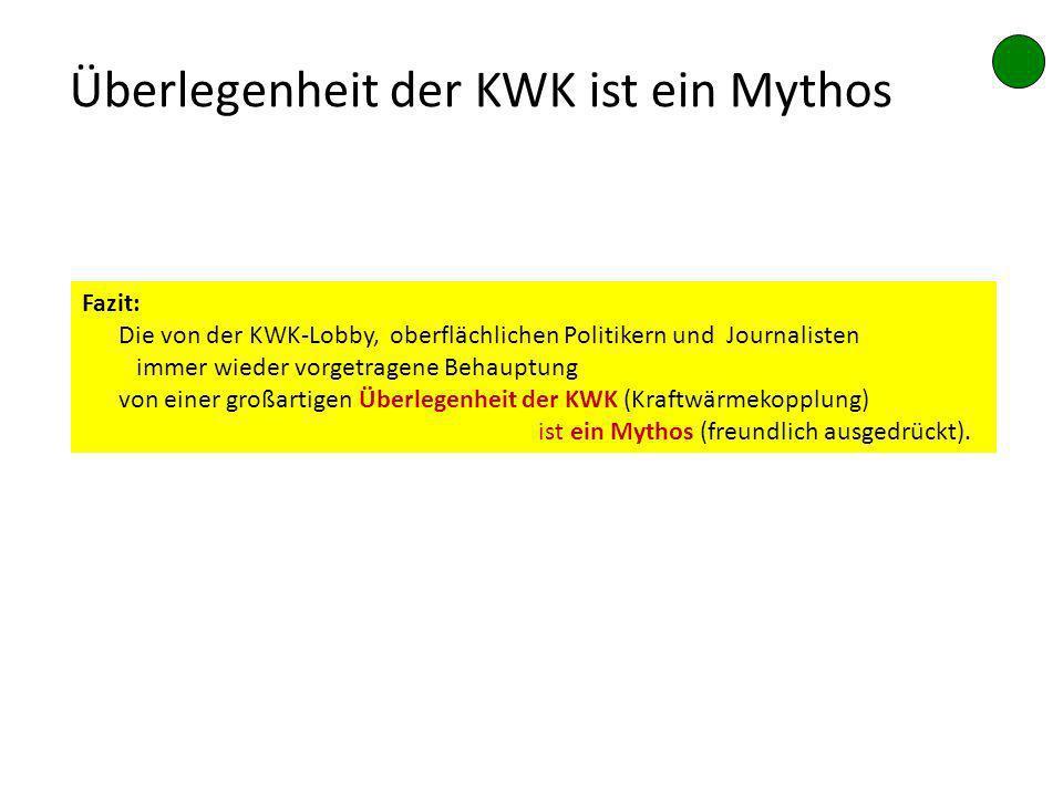 Überlegenheit der KWK ist ein Mythos