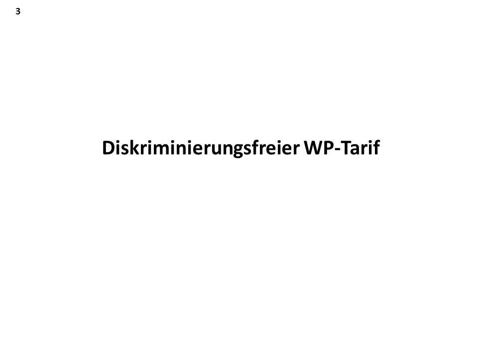 Diskriminierungsfreier WP-Tarif