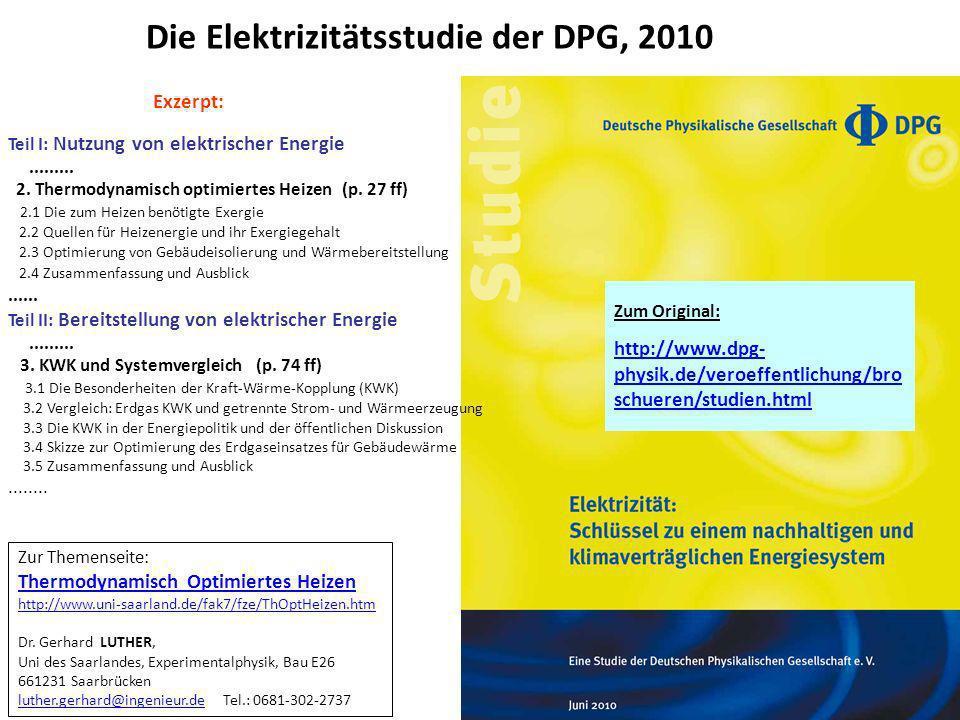 Die Elektrizitätsstudie der DPG, 2010