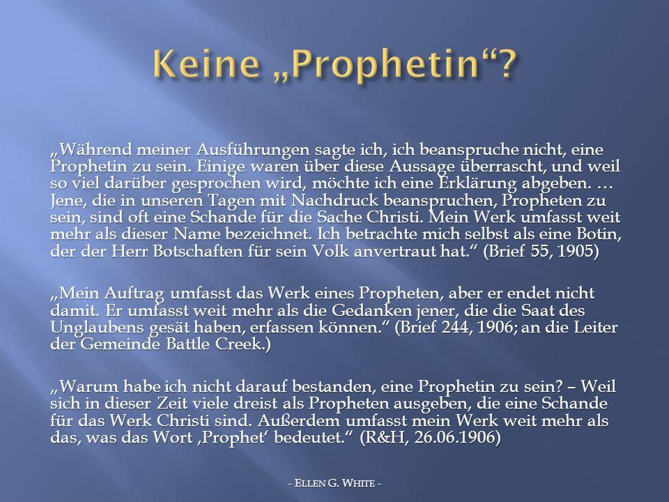 "Keine ""Prophetin"