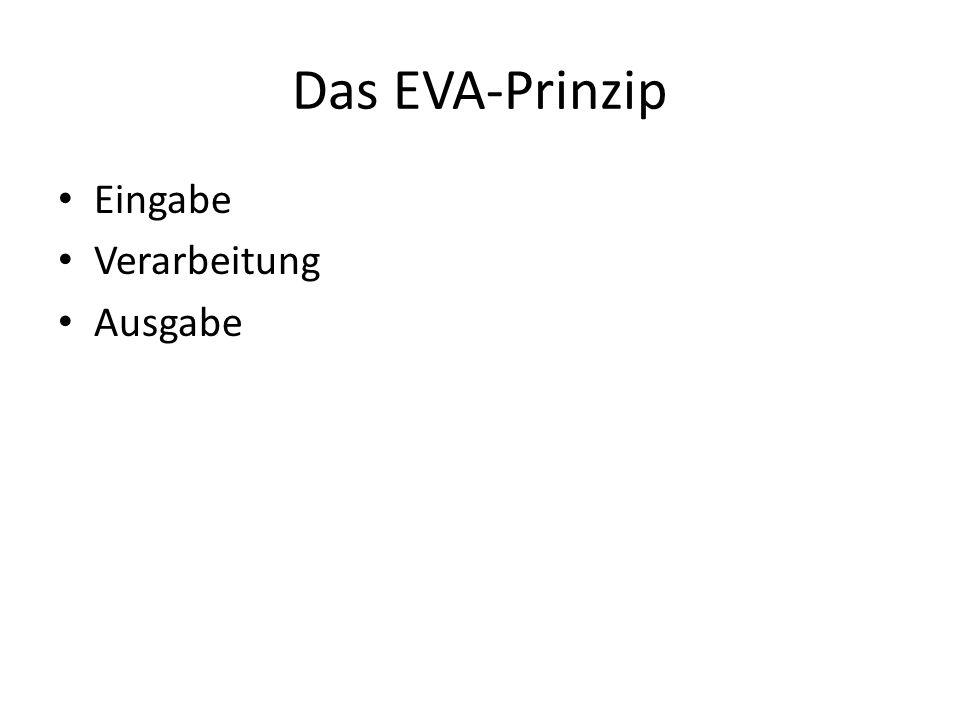 Das EVA-Prinzip Eingabe Verarbeitung Ausgabe