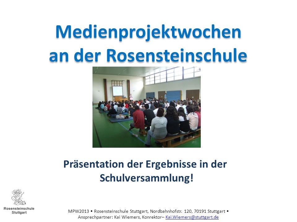 Medienprojektwochen an der Rosensteinschule