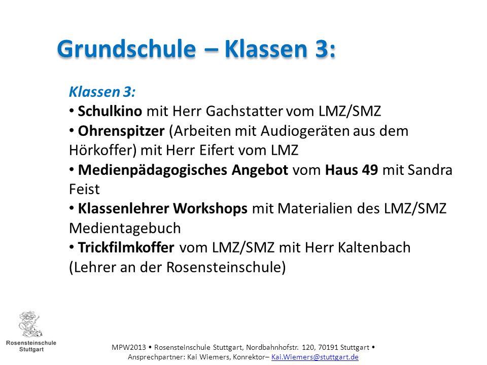 Grundschule – Klassen 3: