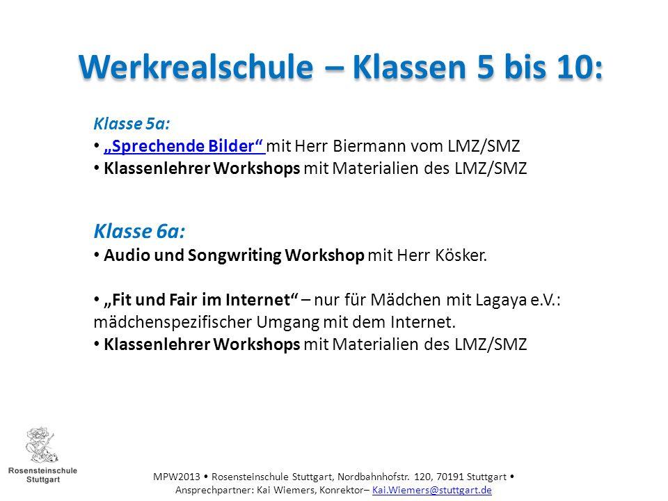 Werkrealschule – Klassen 5 bis 10: