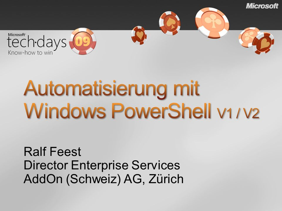 Automatisierung mit Windows PowerShell V1 / V2