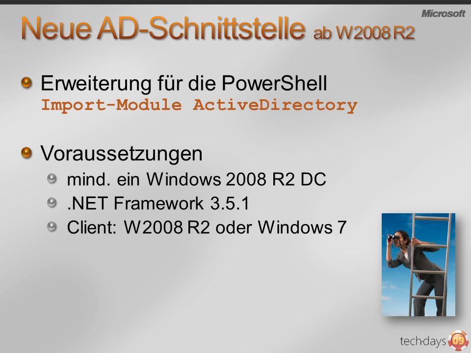 Neue AD-Schnittstelle ab W2008 R2
