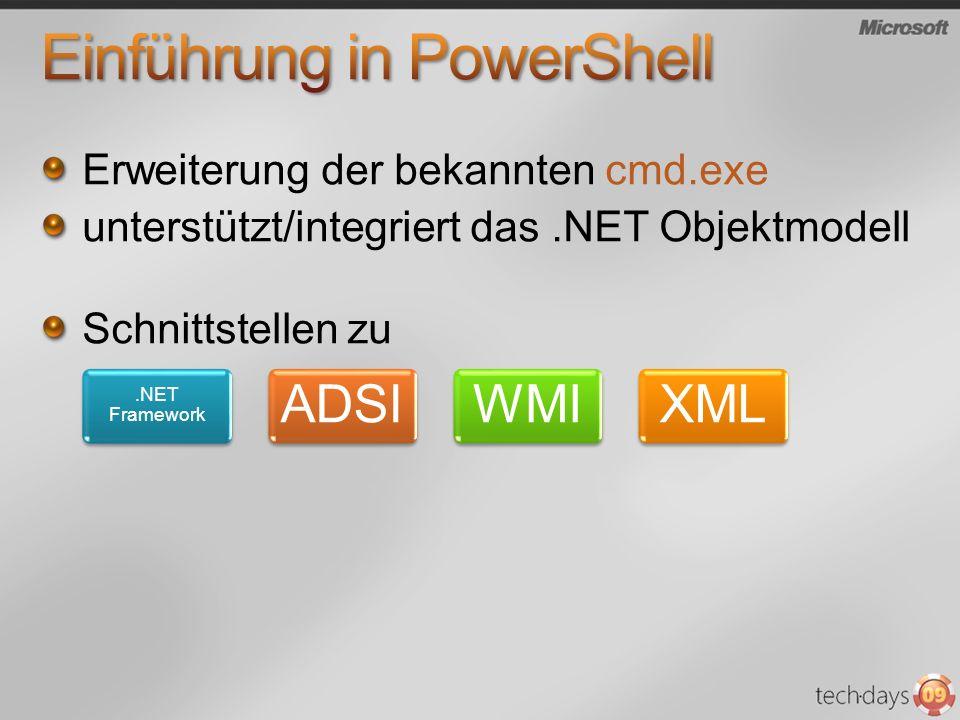 Einführung in PowerShell