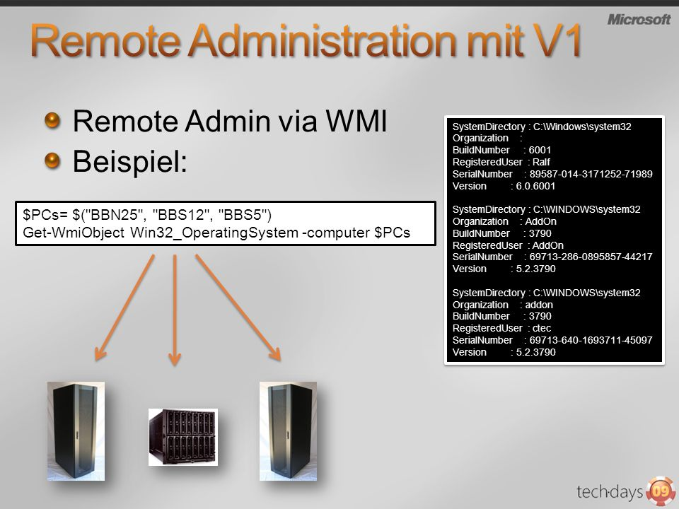 Remote Administration mit V1
