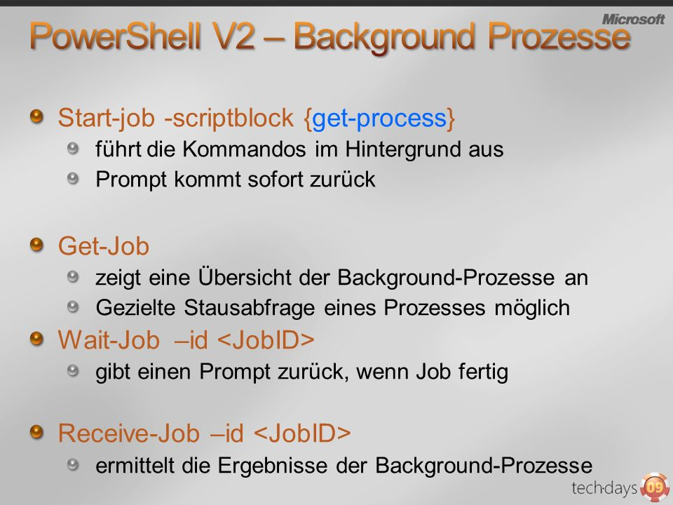 PowerShell V2 – Background Prozesse