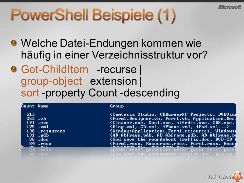 PowerShell Beispiele (1)