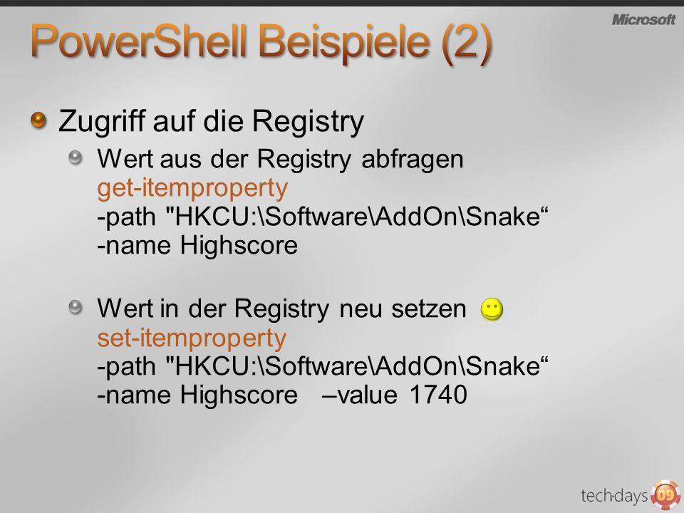 PowerShell Beispiele (2)