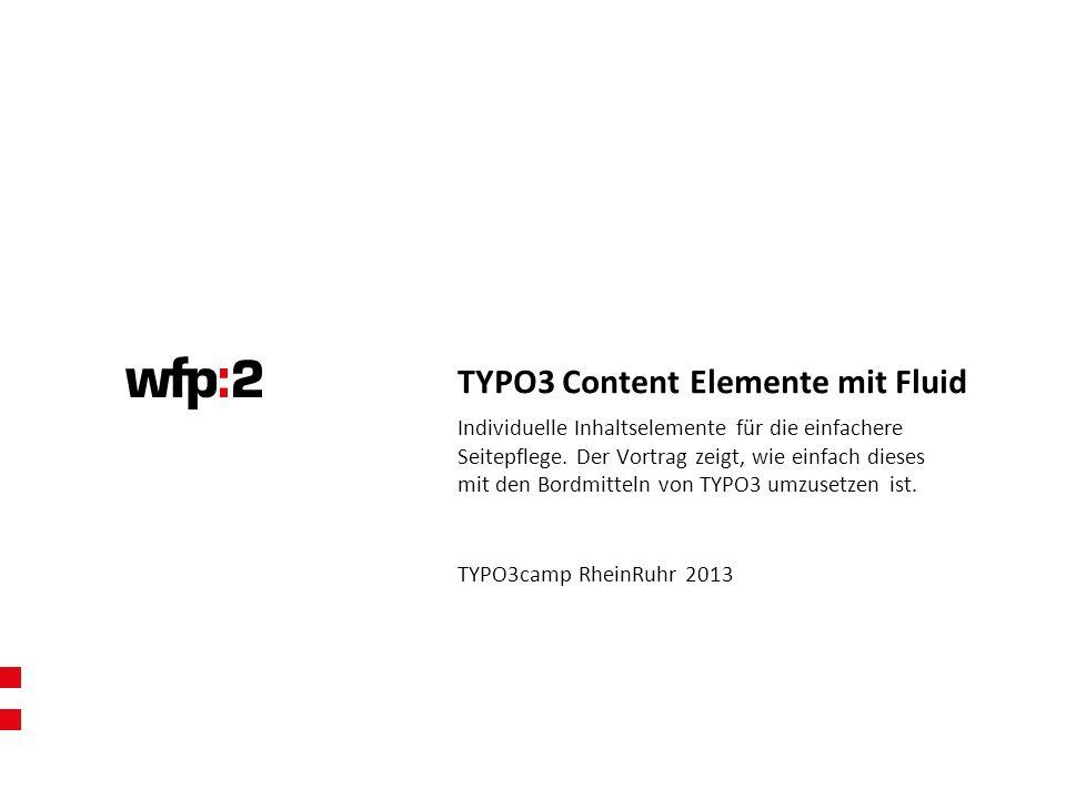 TYPO3 Content Elemente mit Fluid