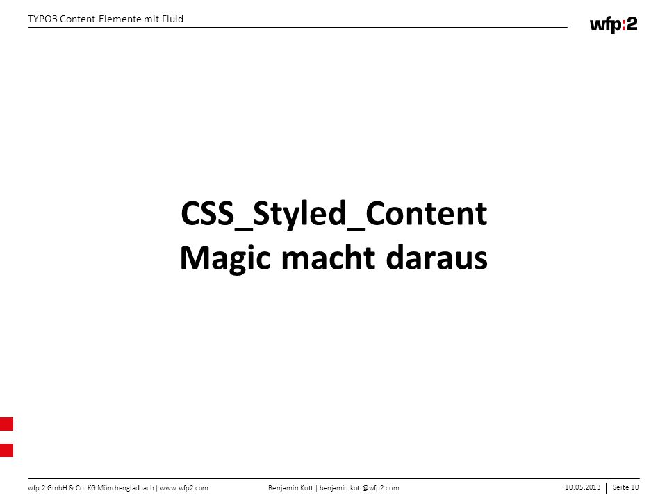 CSS_Styled_Content Magic macht daraus
