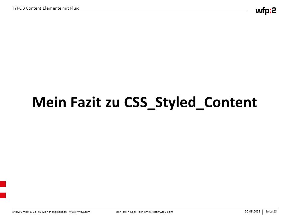 Mein Fazit zu CSS_Styled_Content