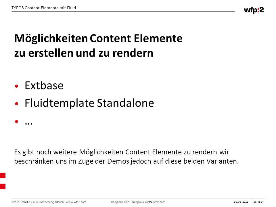 Möglichkeiten Content Elemente zu erstellen und zu rendern