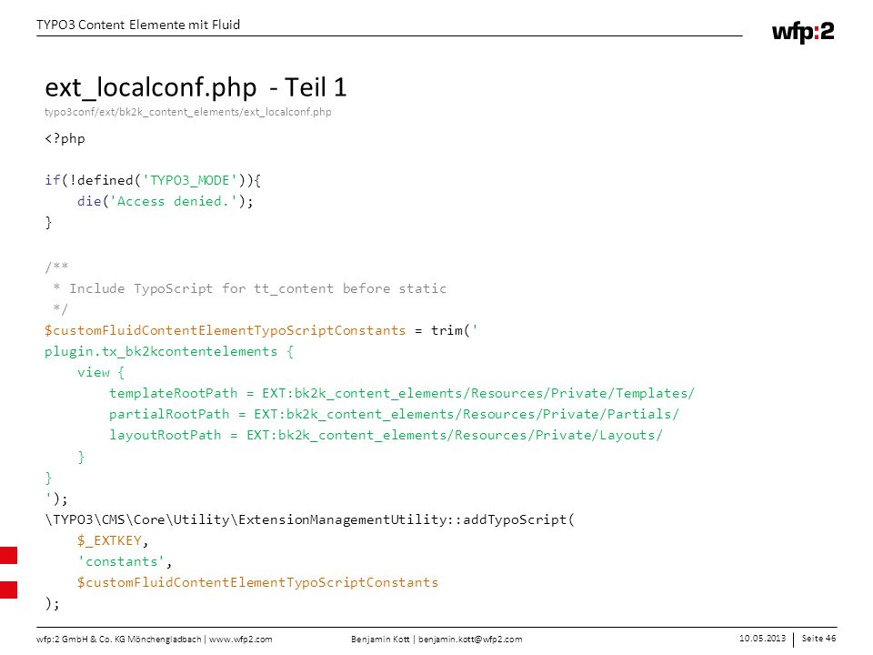 ext_localconf.php - Teil 1 typo3conf/ext/bk2k_content_elements/ext_localconf.php