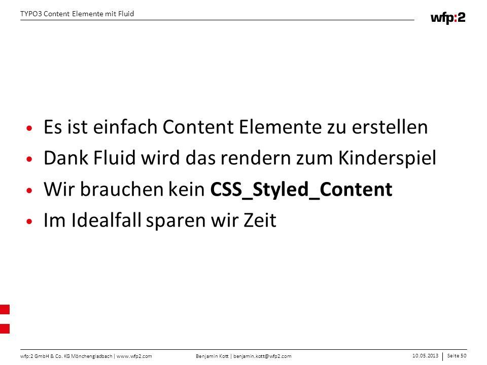 Es ist einfach Content Elemente zu erstellen