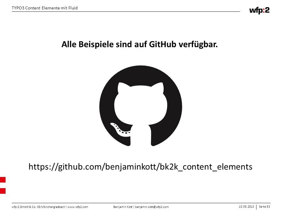 Alle Beispiele sind auf GitHub verfügbar.