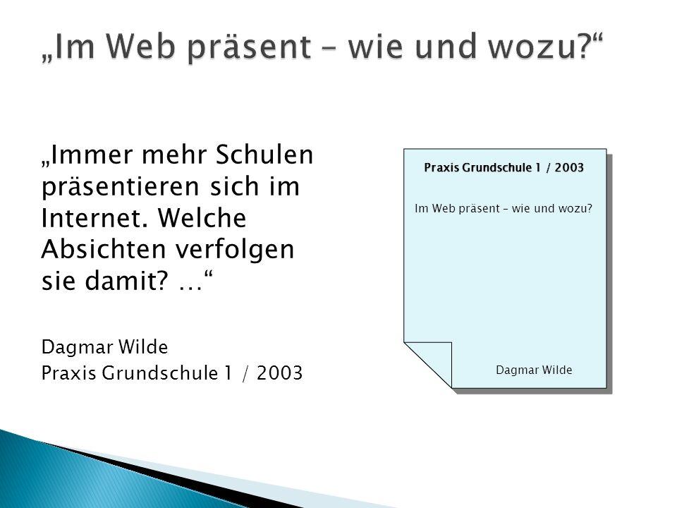 """""""Im Web präsent – wie und wozu"""
