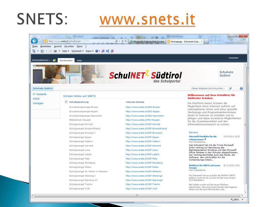 SNETS: www.snets.it