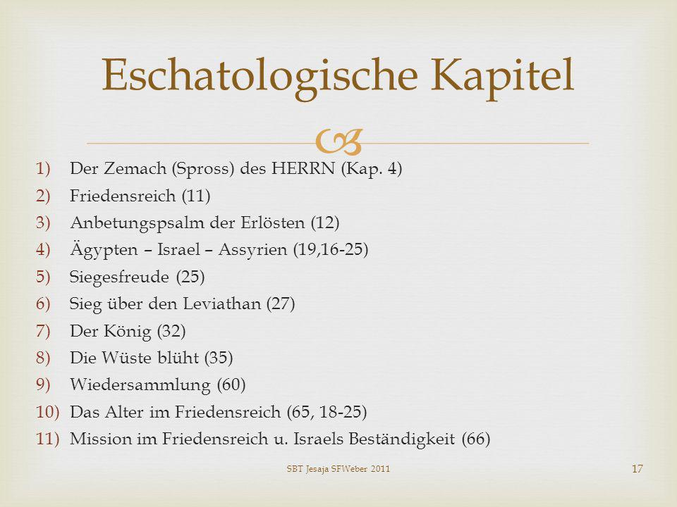 Eschatologische Kapitel