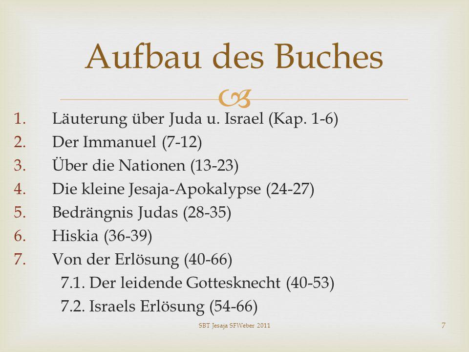 Aufbau des Buches Läuterung über Juda u. Israel (Kap. 1-6)