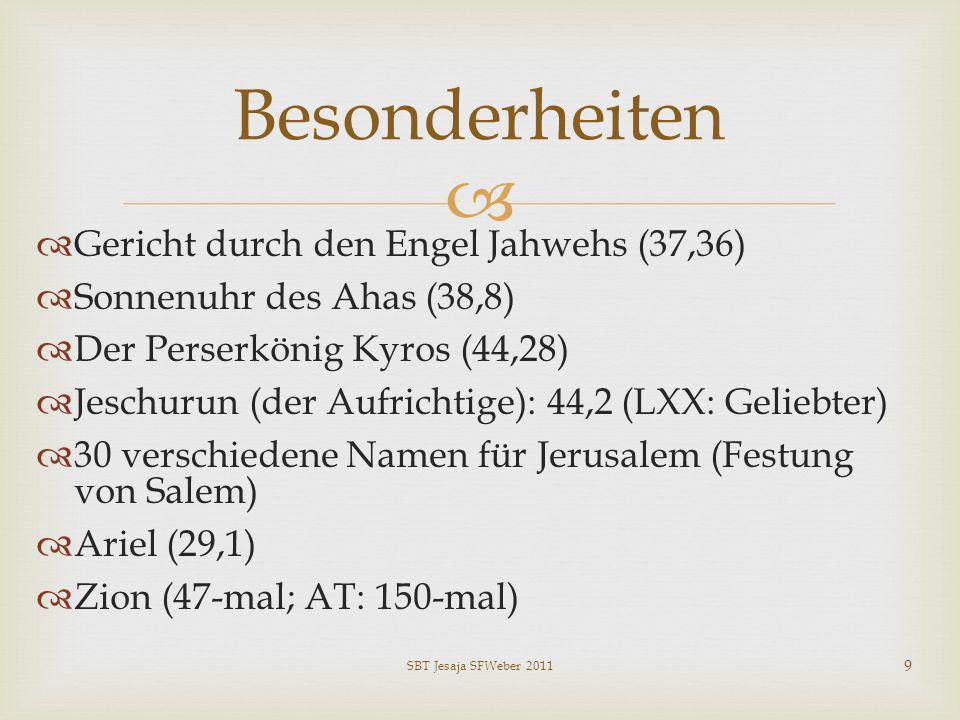 Besonderheiten Gericht durch den Engel Jahwehs (37,36)