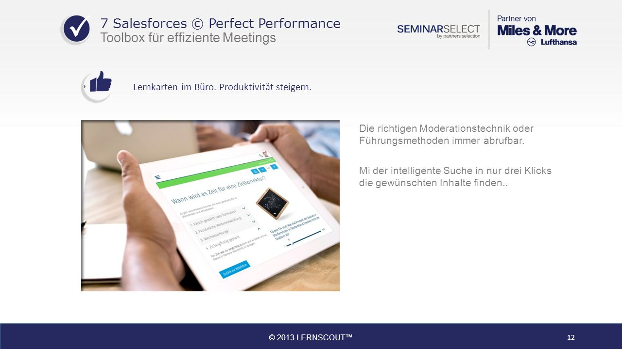 7 Salesforces © Perfect Performance Toolbox für effiziente Meetings