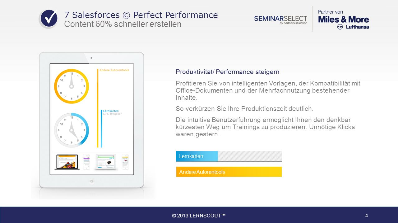 7 Salesforces © Perfect Performance Content 60% schneller erstellen